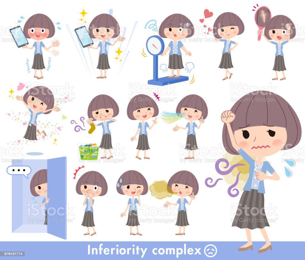 Mash hair blue cardigan women_complex