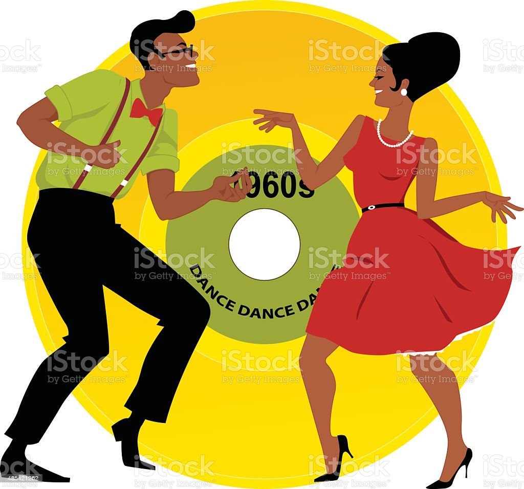 Mashed Potato Dance vector art illustration