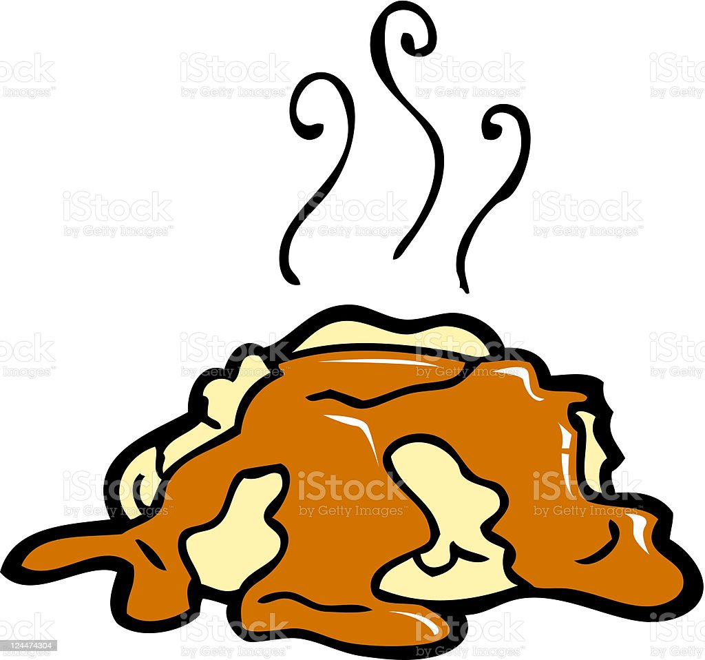 Mashed Potatoes and Gravy vector art illustration