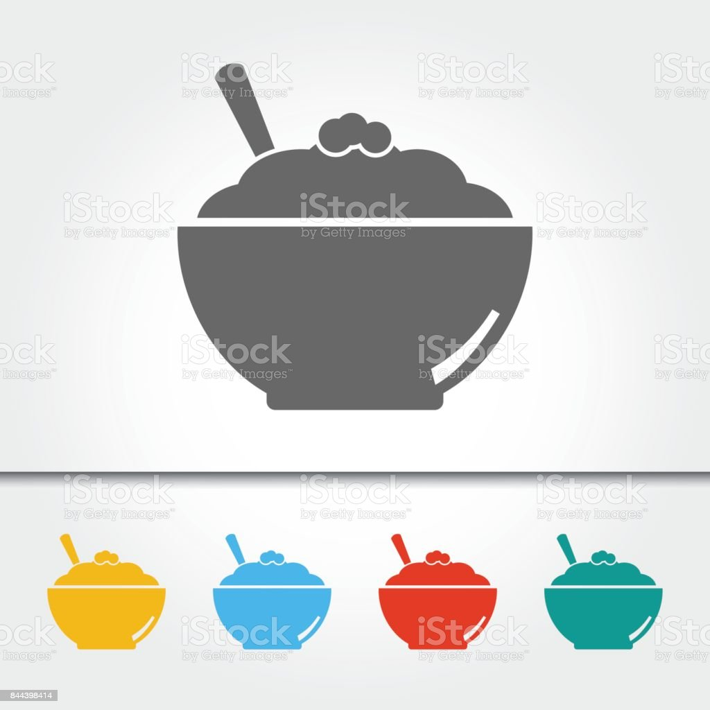 Mashed Potatoes Single Icon Vector Illustration vector art illustration