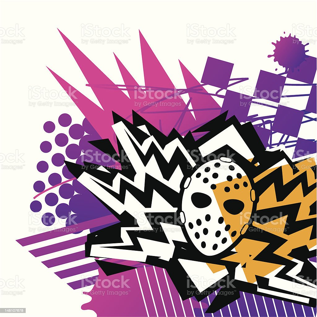 Mask And Lightning royalty-free mask and lightning stock vector art & more images of 1980-1989