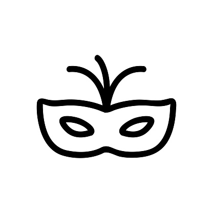 Mask Carnival icon vector. Isolated contour symbol illustration