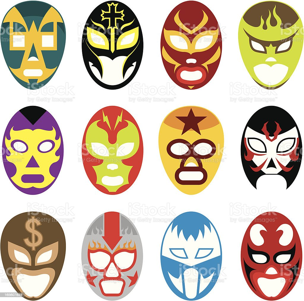 Lucha mask vector art illustration
