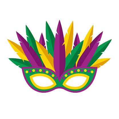 Mask Icon on Transparent Background