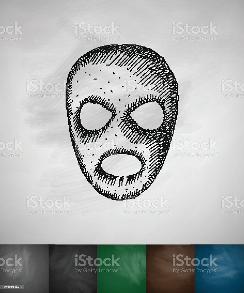 mask icon vector art illustration
