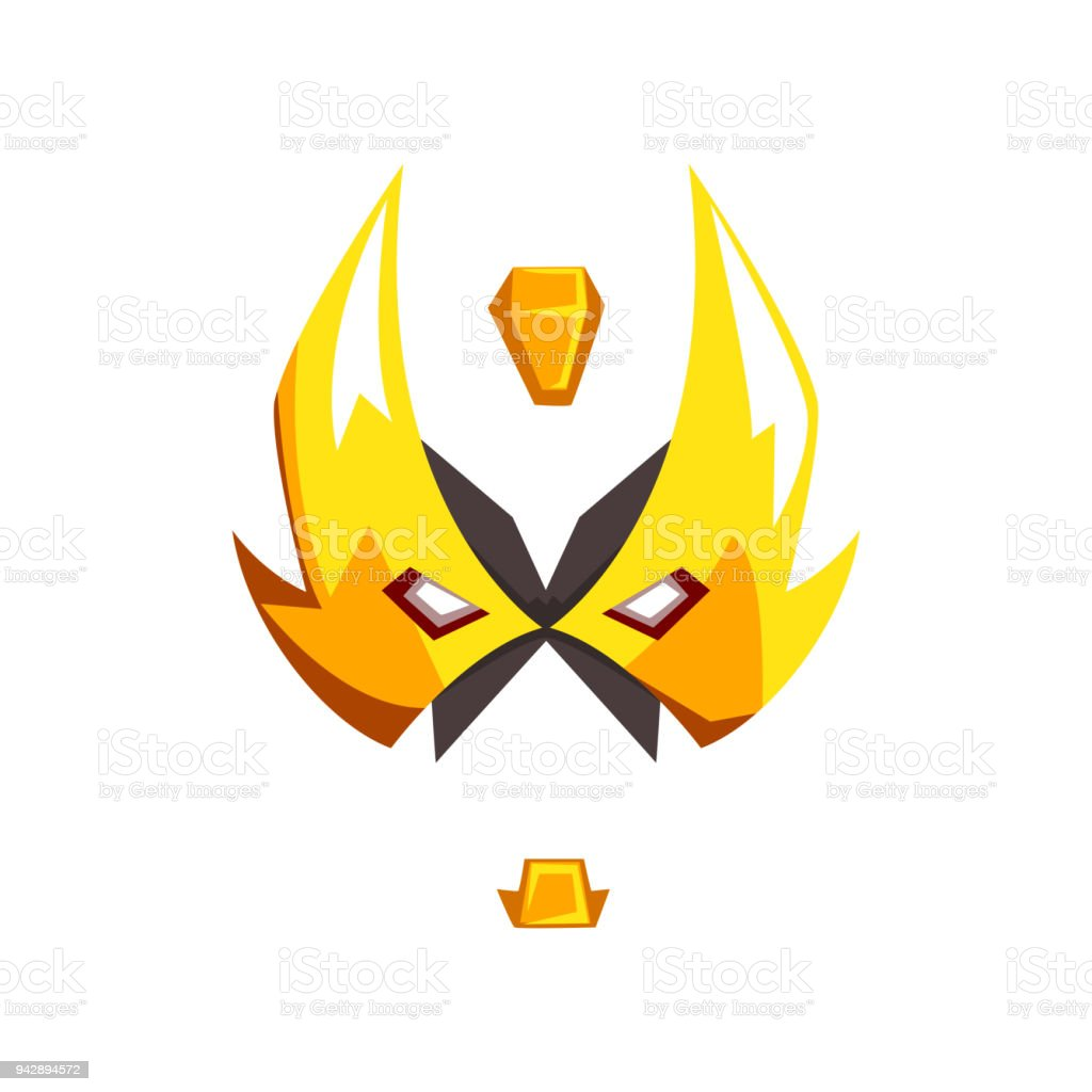 Mask Of Hero Or Villain Face Vector Illustration Isolated On A White