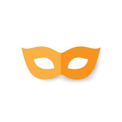 Mask paper icon on white background. Vector