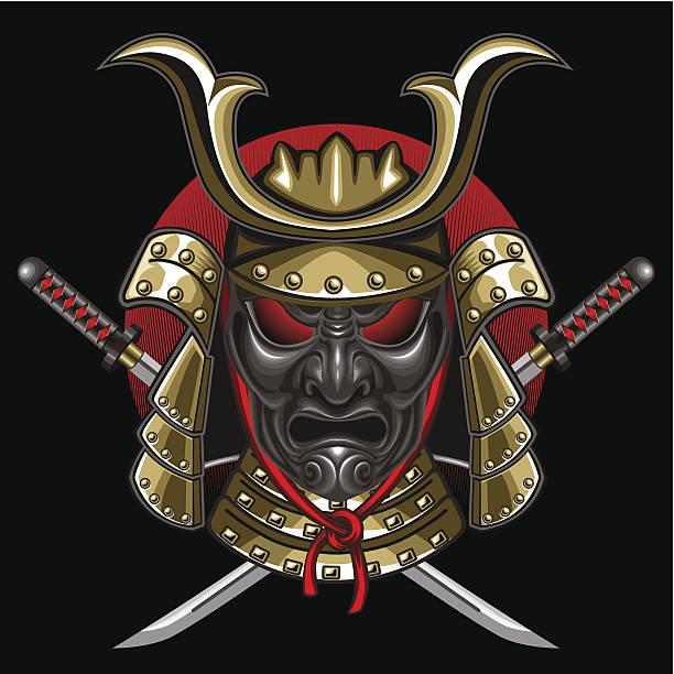 侍 katana マスク付き - マスク 日本人点のイラスト素材/クリップアート素材/マンガ素材/アイコン素材