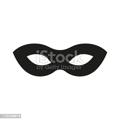 Mask superhero. Carnival mask icon. Vector illustration