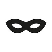 Mask superhero. Carnival mask icon. Vector illustration