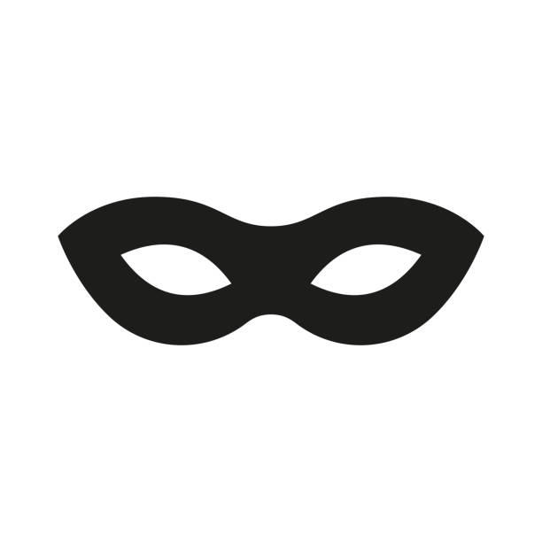 mask superhero. carnival mask icon. vector - mask stock illustrations