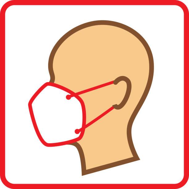 Maskensymbol – Vektorgrafik