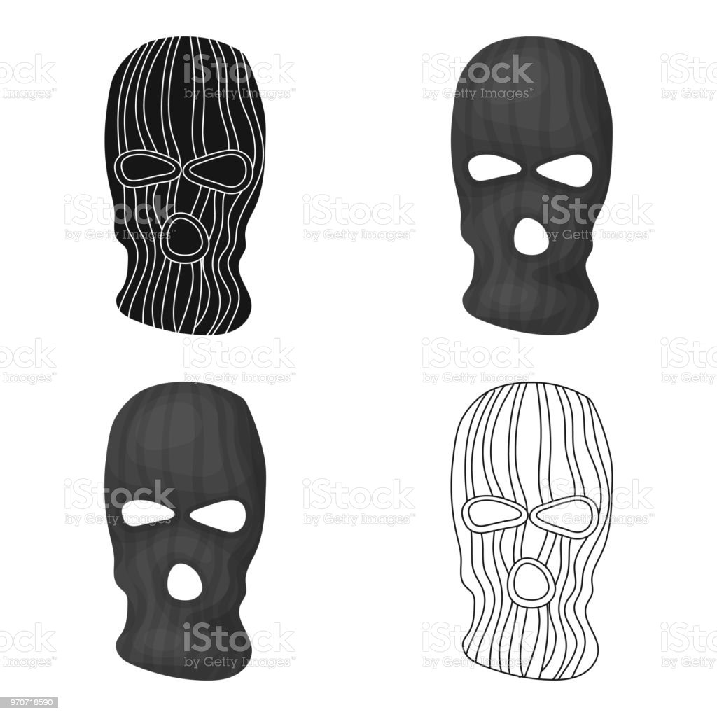 Mask to close the face of the offender from witnesses.Prison single icon in cartoon style vector symbol stock web illustration. vector art illustration