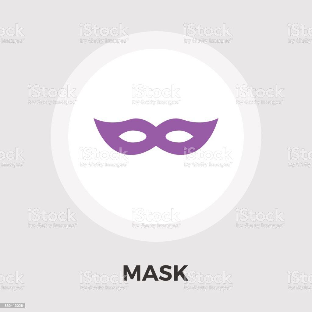 Máscara Vector de icono plano - ilustración de arte vectorial