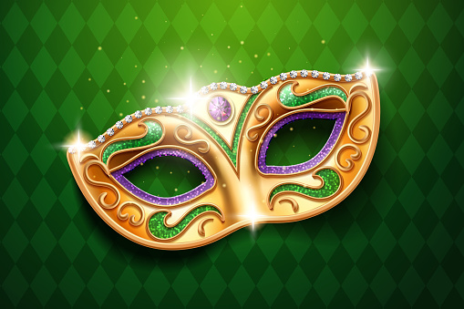 Mask with diamonds for carnival, masquerade