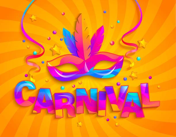 ilustraciones, imágenes clip art, dibujos animados e iconos de stock de máscara con plumas para carnaval. - carnaval
