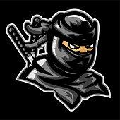 Masked ninja mascot