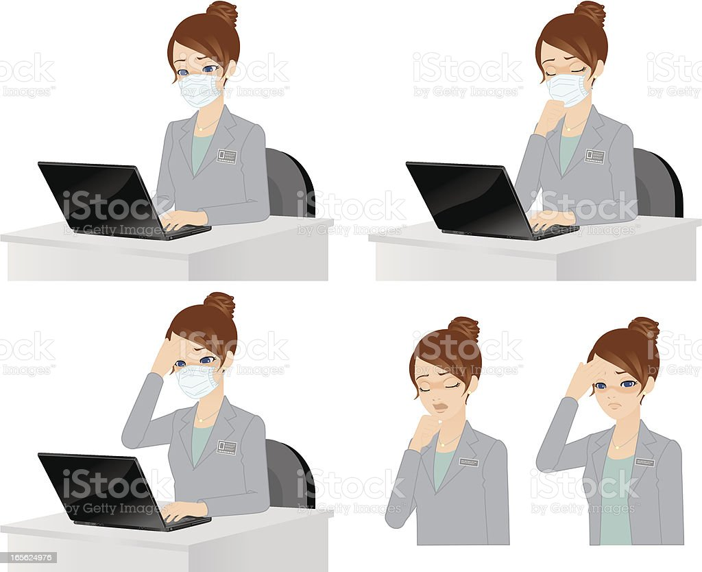 Masked woman is Hard! royalty-free masked woman is hard stock vector art & more images of adult