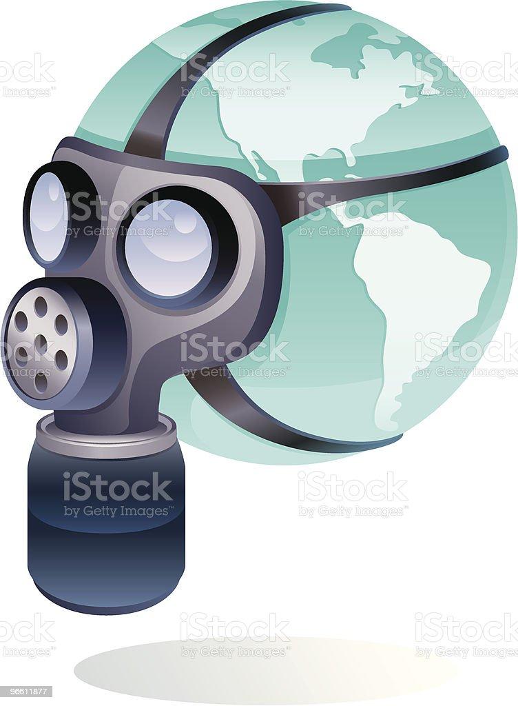 masking globe - Royalty-free Close-up stock vector