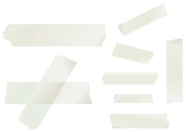 Masking Tape Collection Masking Tape Vector Collection tape stock illustrations