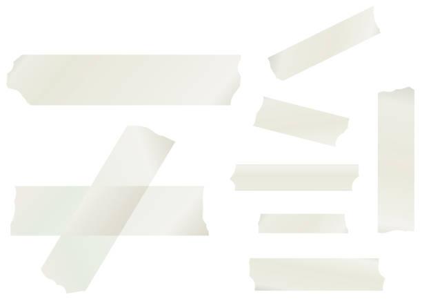 ilustraciones, imágenes clip art, dibujos animados e iconos de stock de colección de cintas de enmascaramiento - tape