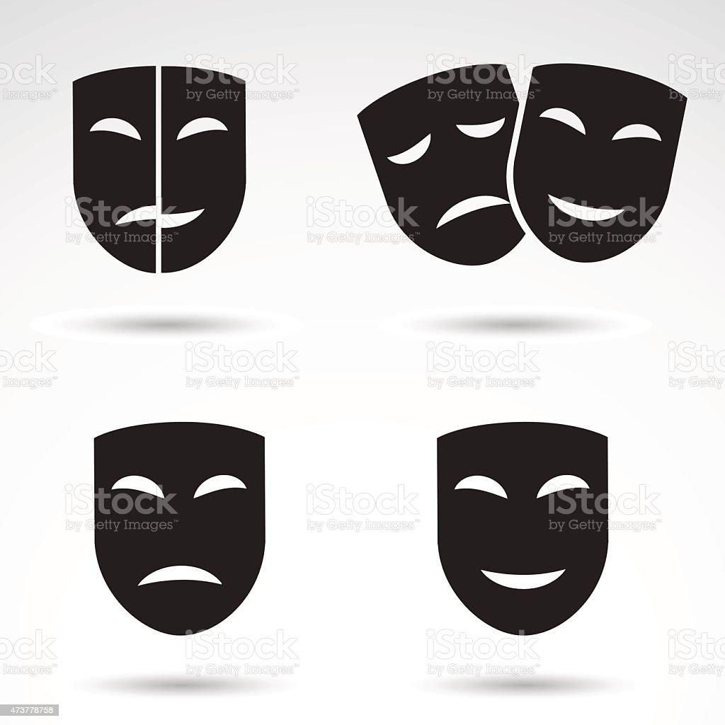 Masks icon set. vector art illustration