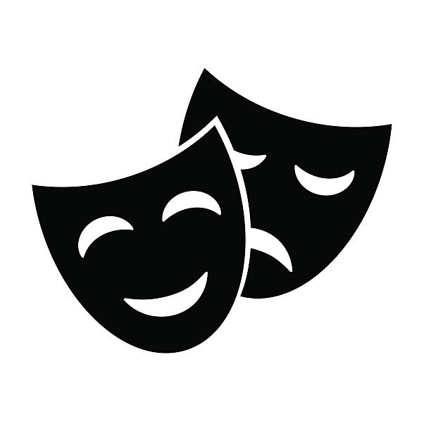 masks icon. - comedian stock illustrations