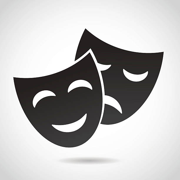 Masks icon. vector art illustration