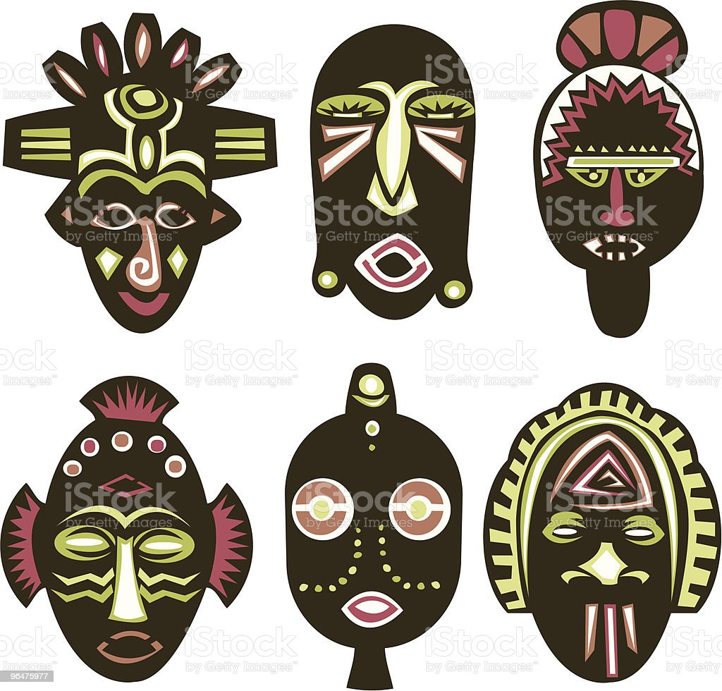 Masks vector art illustration