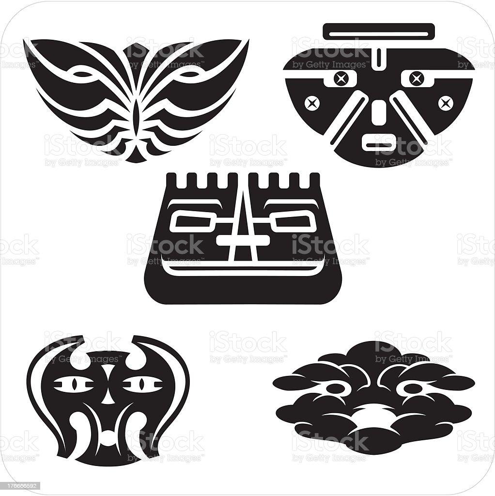 Máscaras-Vector conjunto. ilustración de máscarasvector conjunto y más banco de imágenes de abstracto libre de derechos