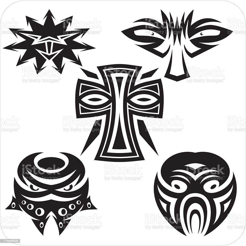 Masks - Vector set. royalty-free masks vector set stock vector art & more images of abstract