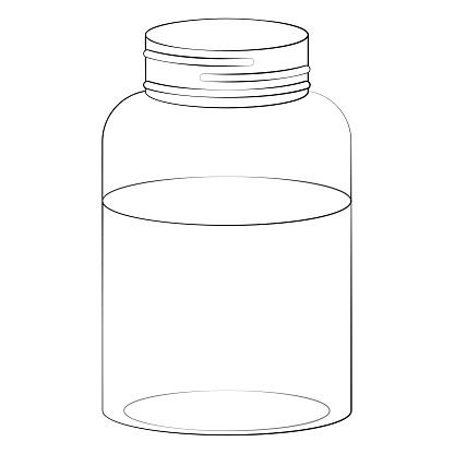 Mason Jar and Water Illustration