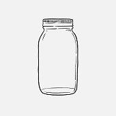 istock mason Jar hand drawn vector illustration isolated on white background 1252606417