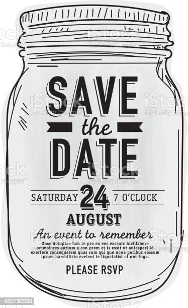 Mason jar save the date invitation design template vector id532792239?b=1&k=6&m=532792239&s=612x612&h=wcekg8krtqb2iwnu6o 5eurjzopw bkwbjahhkjcu0y=