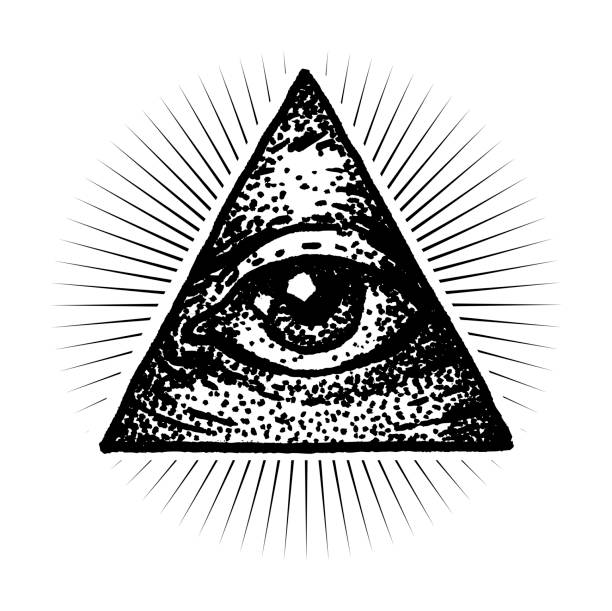masonic eye - freemasons stock illustrations