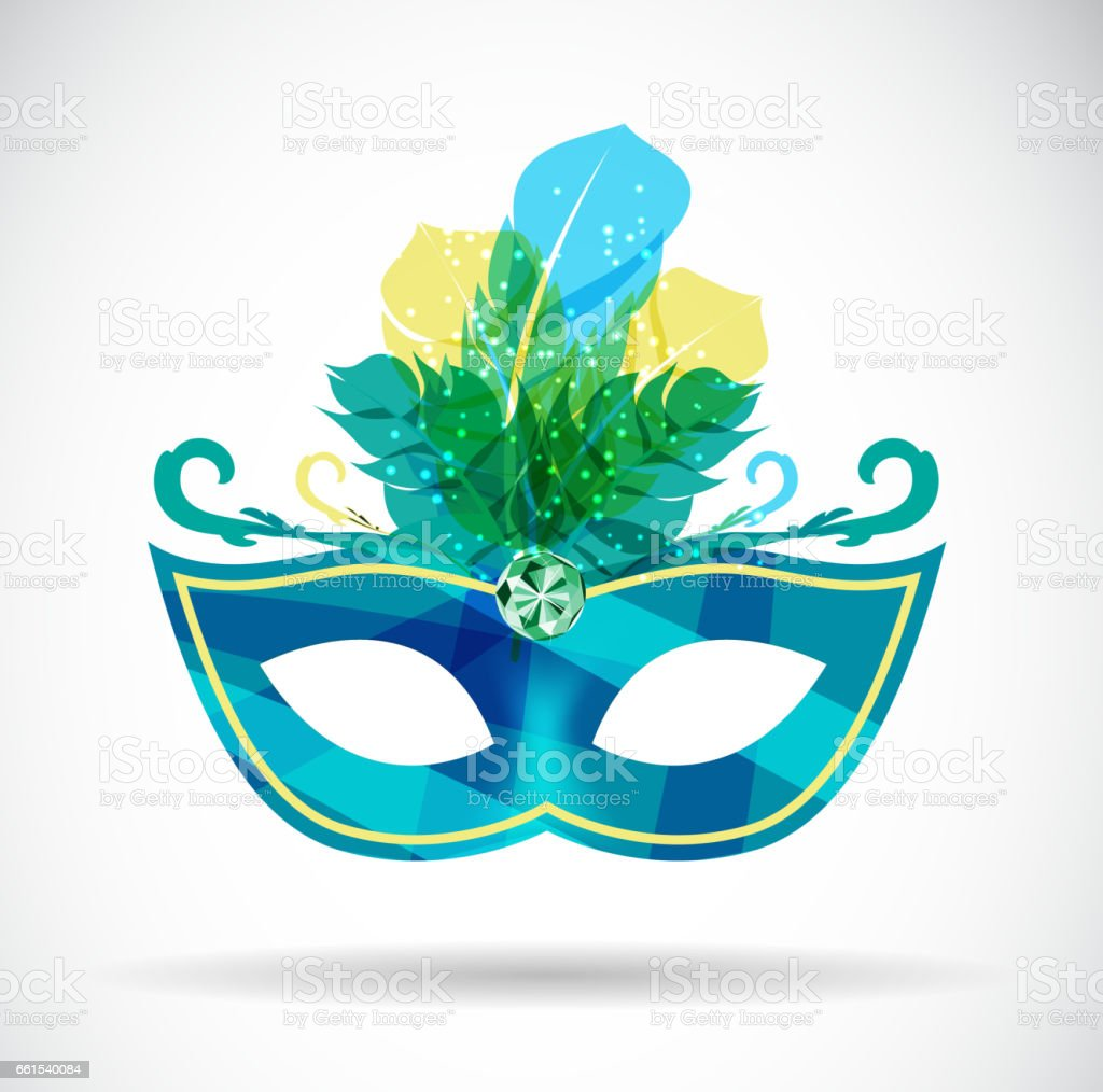 Masquerade Carnival Mask Icon Vector Illustration vector art illustration