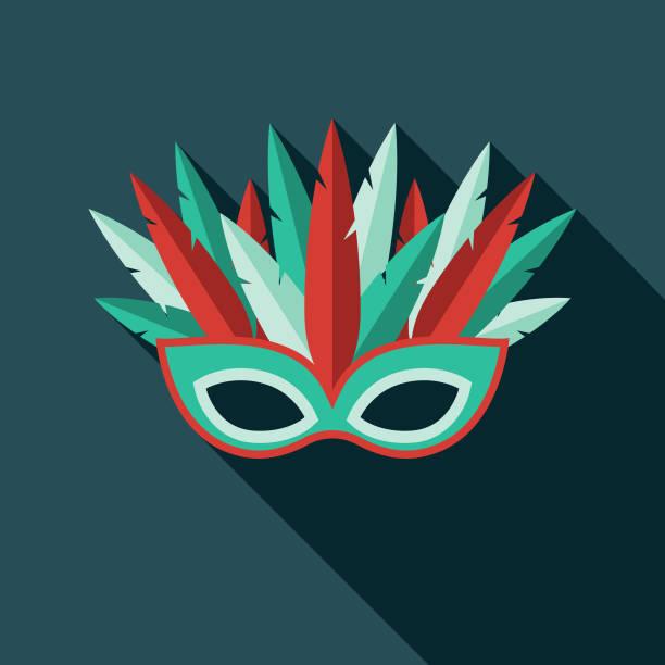 masquerade flat design prom icon - prom fashion stock illustrations, clip art, cartoons, & icons