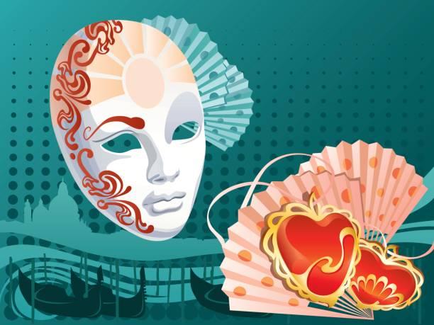 ilustrações de stock, clip art, desenhos animados e ícones de masquerade, venice - tape face