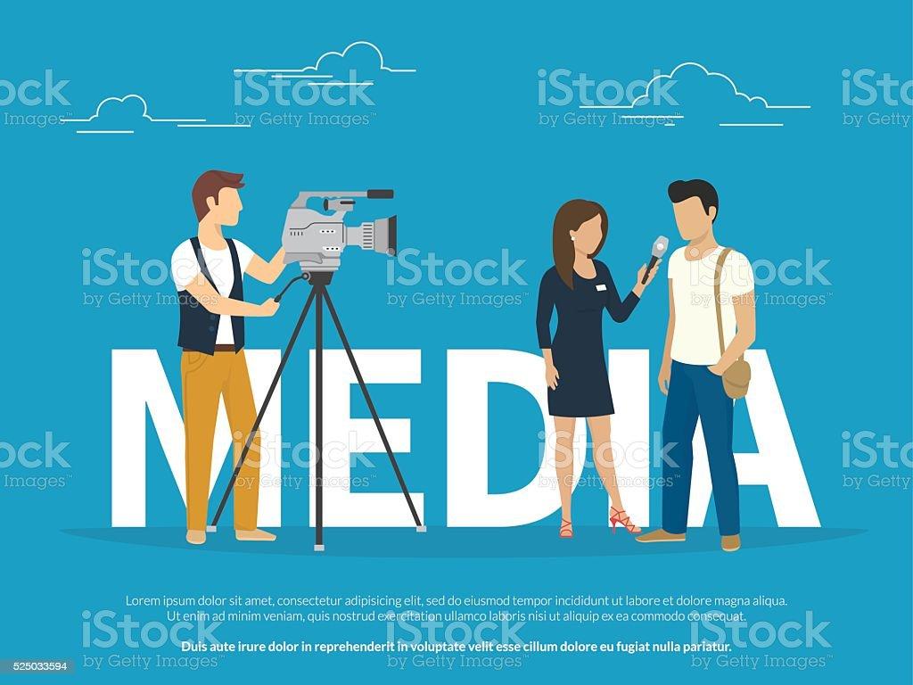 Medios de comunicación concepto de ilustración - ilustración de arte vectorial
