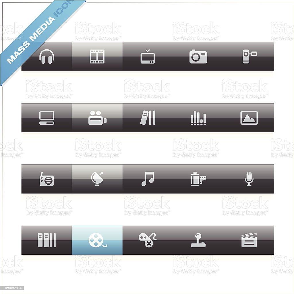 Mass Media Icons royalty-free stock vector art