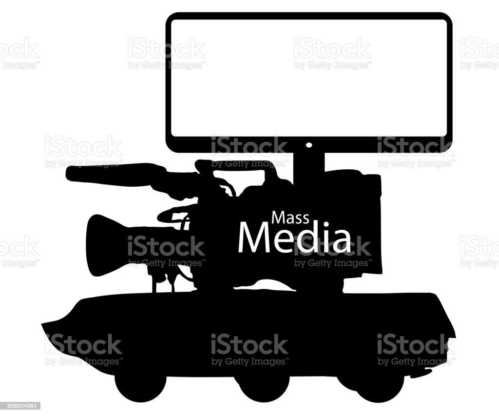 Ilustración de Guerra De Información Falsa De Los Medios De ...