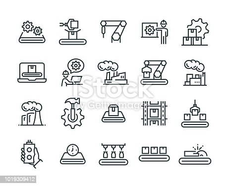Mass Production Icon Set