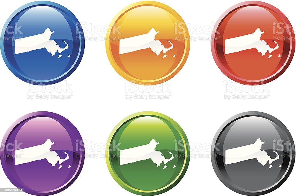 Massachusetts button royalty free vector art royalty-free stock vector art