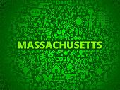 Massachusetts Environmental Conservation Vector Icon Pattern
