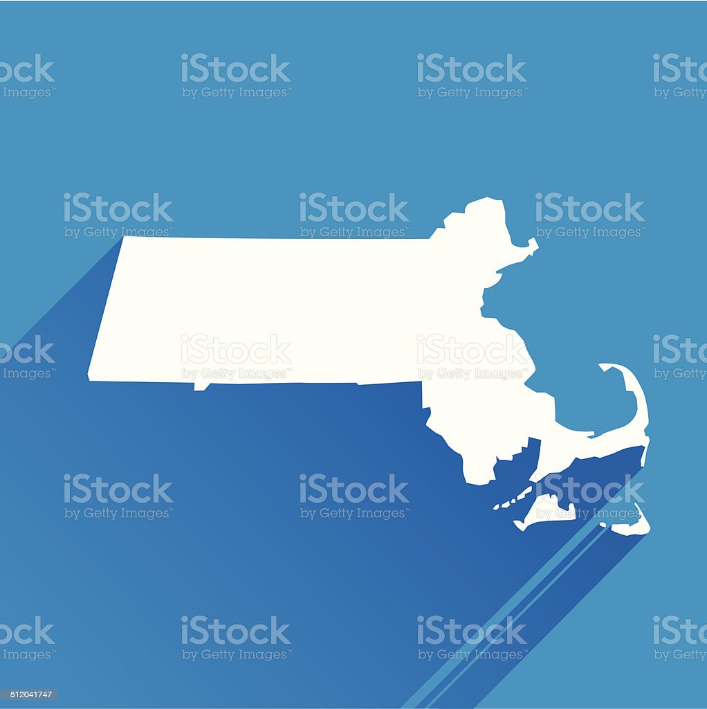 Massachusetts icon vector art illustration