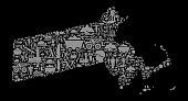 Massachusetts Mining Industry Vector Graphic