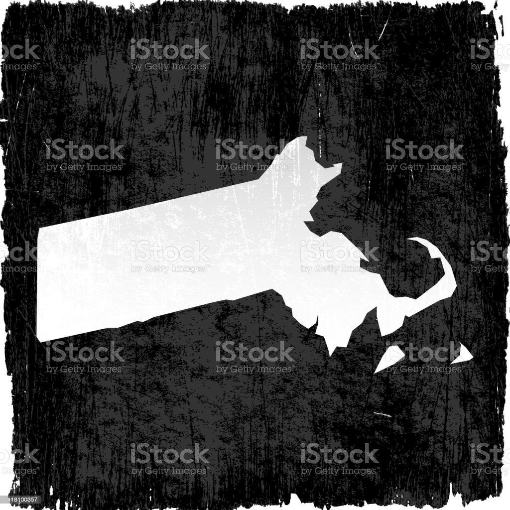 Massachusetts on royalty free vector Background royalty-free stock vector art