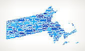 Massachusetts State On Transportation royalty free vector art Pattern