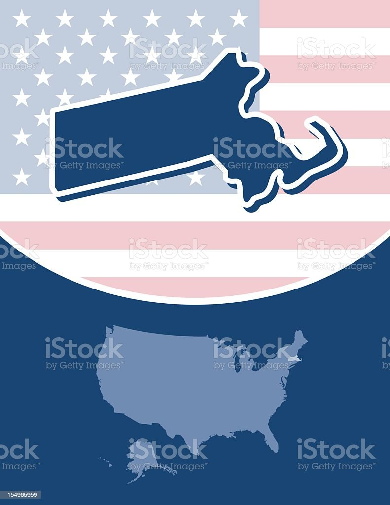 Massachusetts state series royalty-free stock vector art