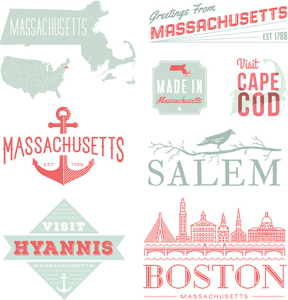 Massachusetts Typography